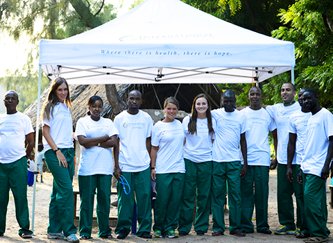 International Medical Aid volunteers