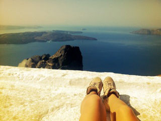 Ocean view in Santorini, Greece