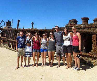 Maheno shipwreck on Fraser (K'gari) Island in Australia