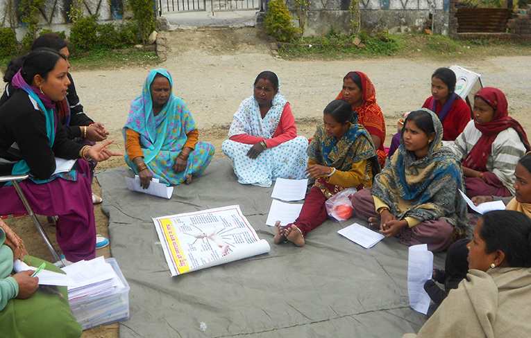 Community breastfeeding class in India