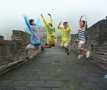 Gabrielle and Her Friends at the Great Wall of China