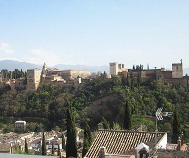 A View of the Alhambra in Granada, Spain