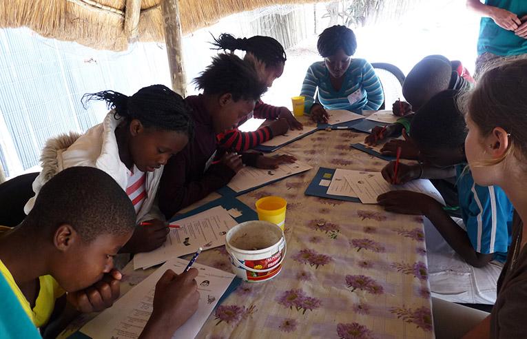 Students at Daktari Bush School in South Africa
