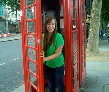 The infamous red phone booths in England