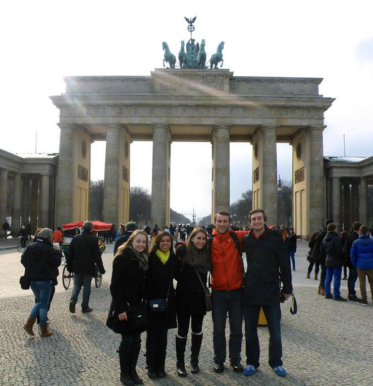 Brandenburg Gate in Berlin, Germany during Semana Santa