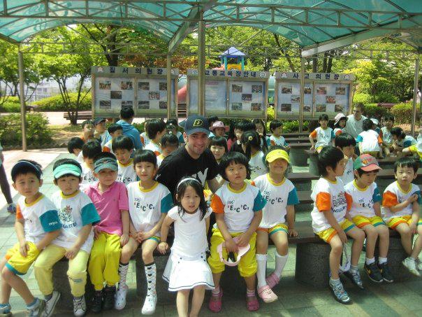 Volunteer teacher in South Korea