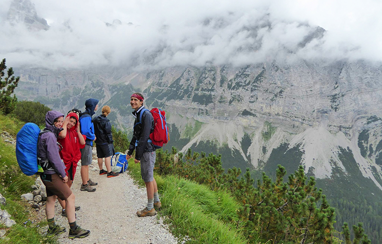 Hiking near Lake Garda in Italy