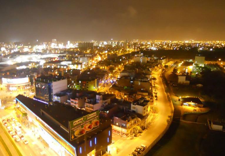 Nighttime view of Lima, Peru