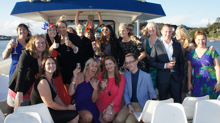 Au Pair Link Staff Masquerade Boat Party in New Zealand