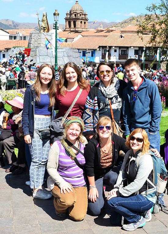 Inti Raymi celebration attendees in Cusco, Peru