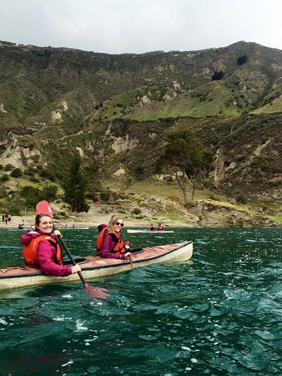 Kayaking at Laguna del Quilotoa, Ecuador