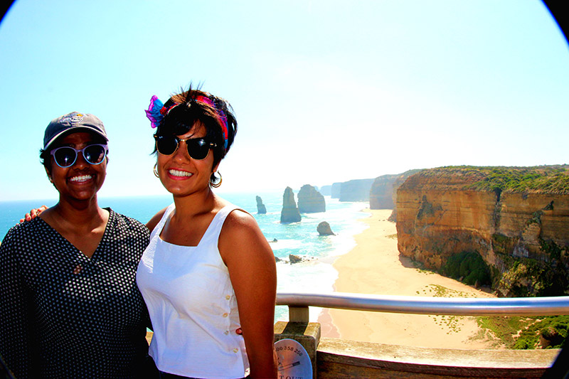 Boston University Students at the 12 Apostles in Melbourne, Australia
