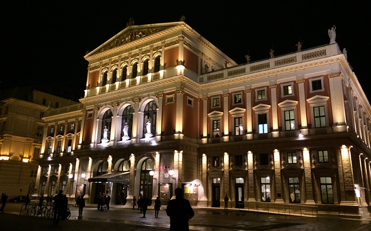 The Musikverein Concert Hall in Vienna, Austria