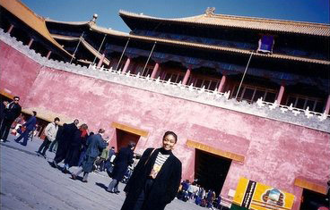 Visiting a traditional building in China