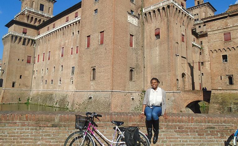 Castello Estense in Ferrara, northern Italy
