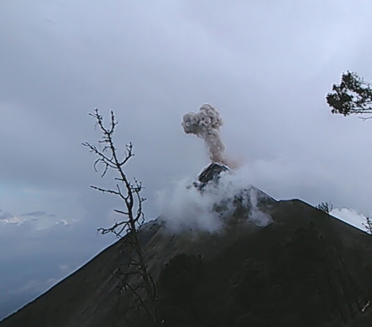 An active volcano in Guatemala