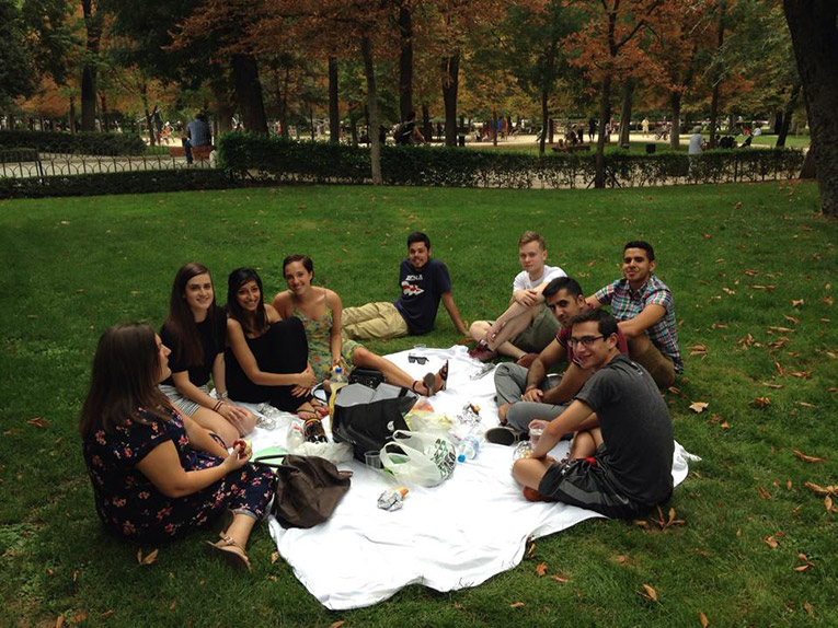 Welcome chat with new interns in Madrid