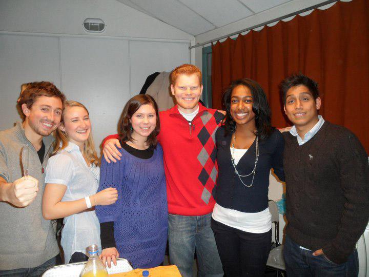 API Study abroad students celebrating Thanksgiving