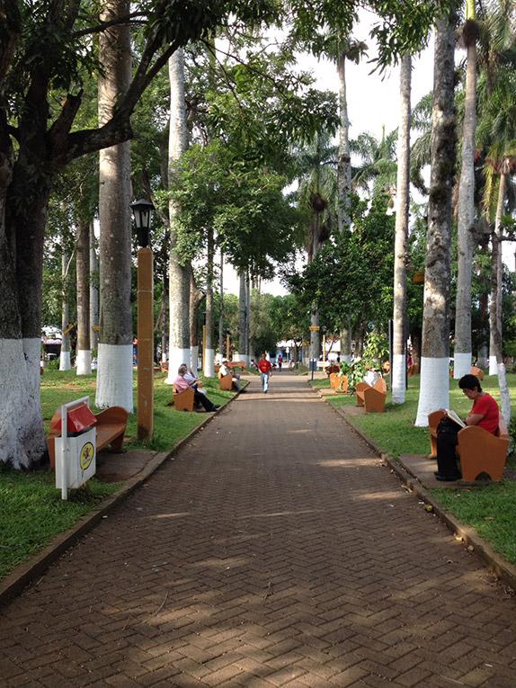 Central lawn of Atenas in Costa Rica