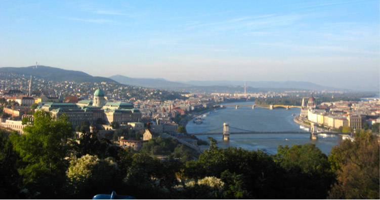 View Overlooking Budapest, Hungary