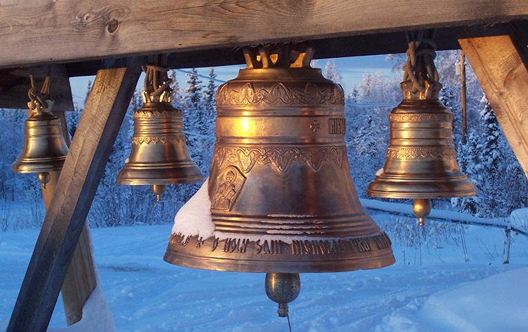Church bells in Nikolai, Alaska