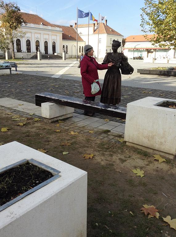 Alba Iulia statue in Transylvania, Romania