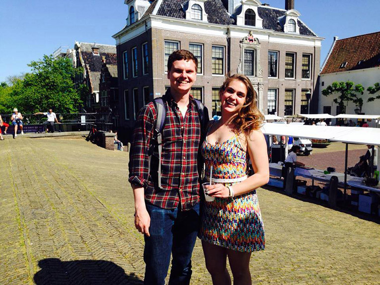 Study abroad student in Edam, Netherlands