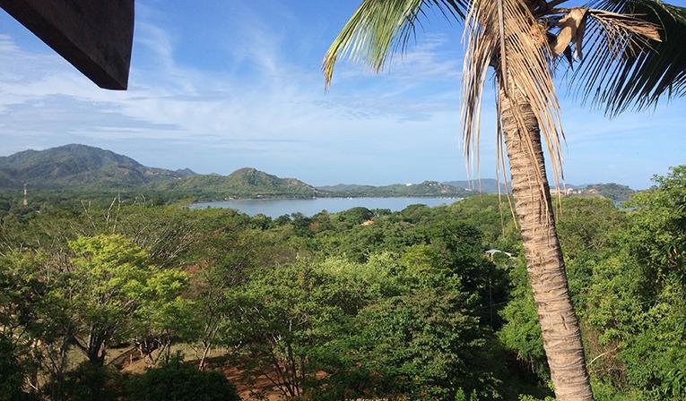 Tropical coastal view in Costa Rica