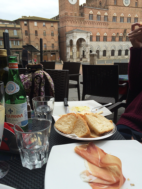 Lunch in Siena, Italy