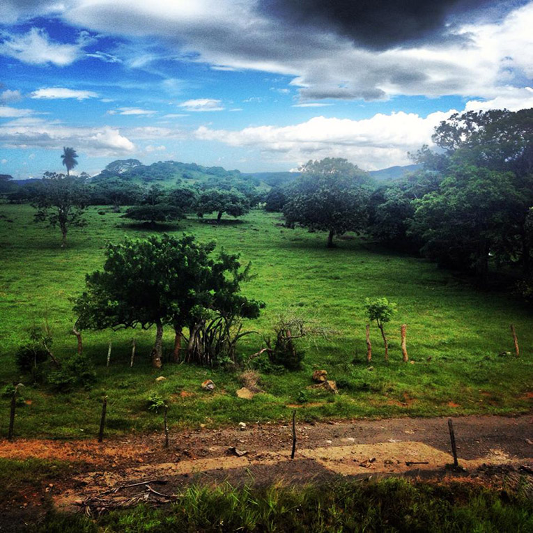 The countryside of Costa Rica while traveling to San Jose