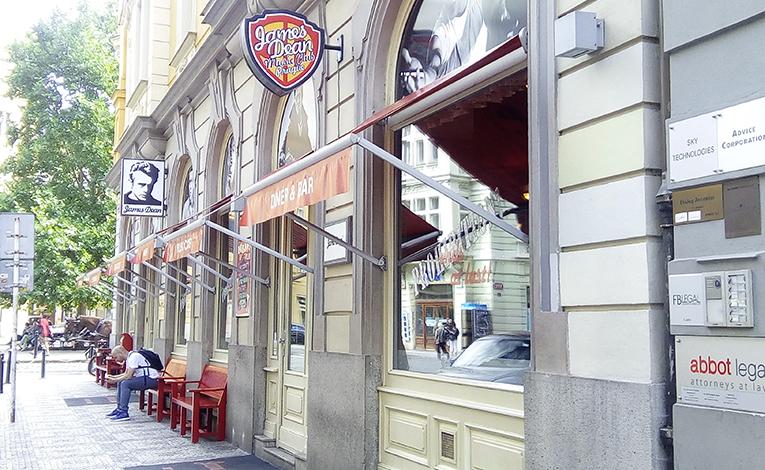 James Dean restaurant in Prague, Czech Republic
