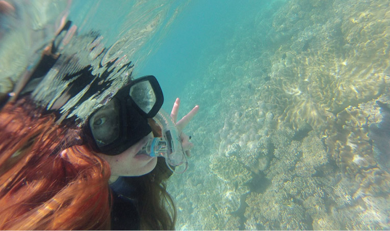 Snorkeling at the Great Barrier Reef in Cairns, Queensland