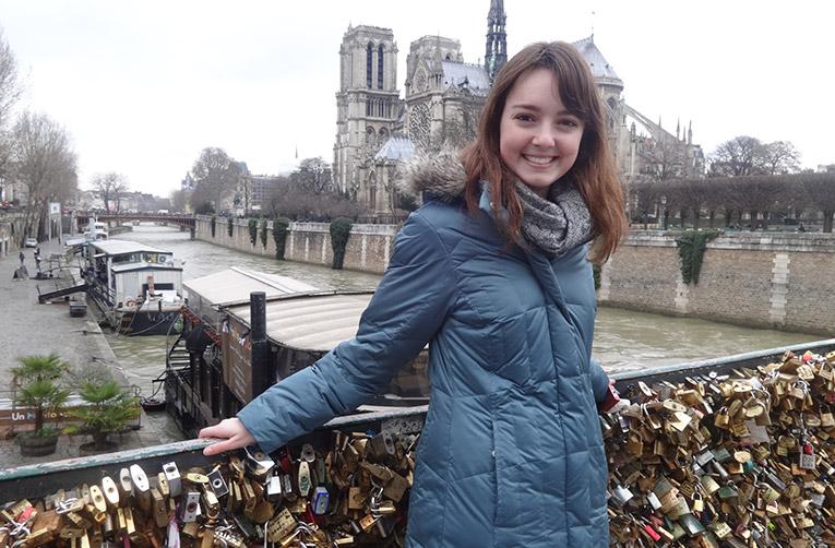 Lovers Bridge in Paris, France