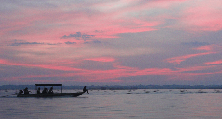 Sunrise at Tonle Sap, Cambodia