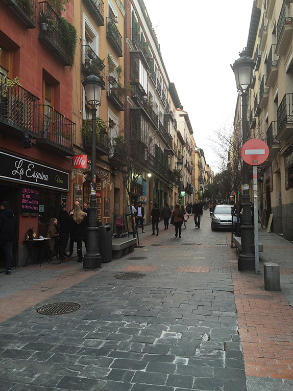 A street in the Latin Quarter of Madrid, Spain