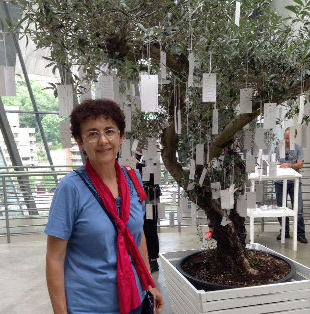 Woman in Bilbao Spain