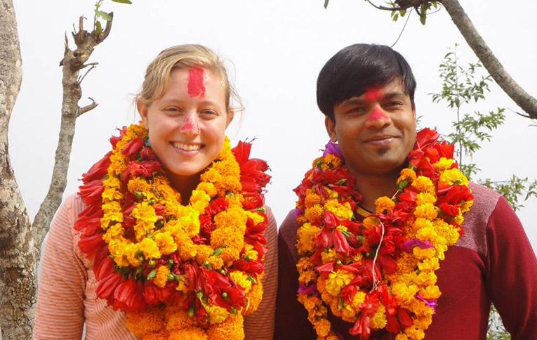 Volunteer with translator in Nepal