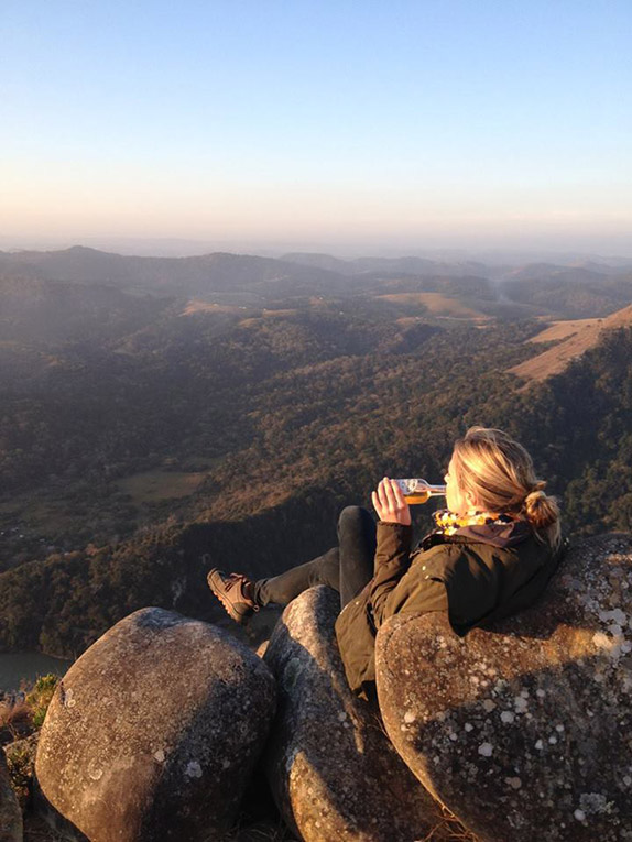 Drinking a Savannah in the mountains of South Africa