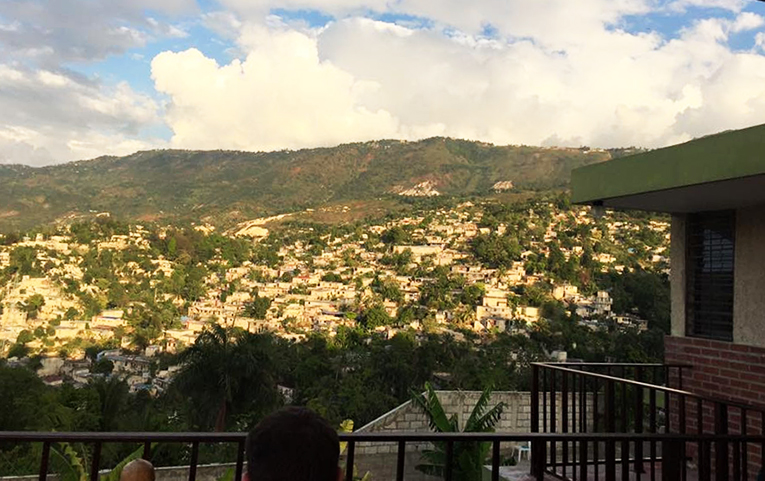 Mountain view in Haiti