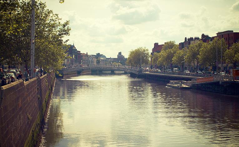 River Liffey, Dublin city center