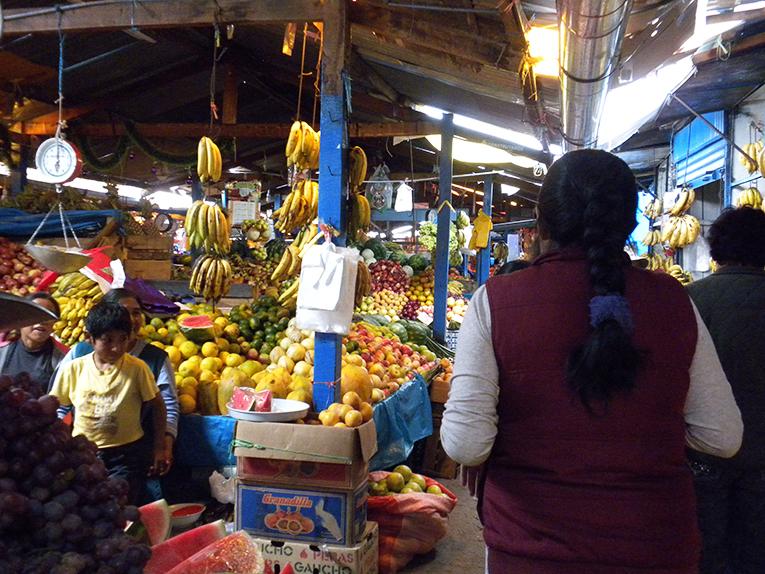 Colorful markets in Cusco, Peru