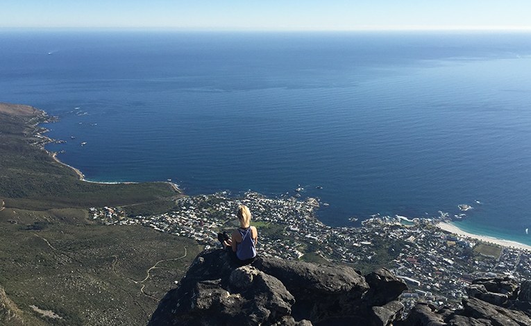 Ocean view from the top of Table Mountain in Cape Town, South Africa