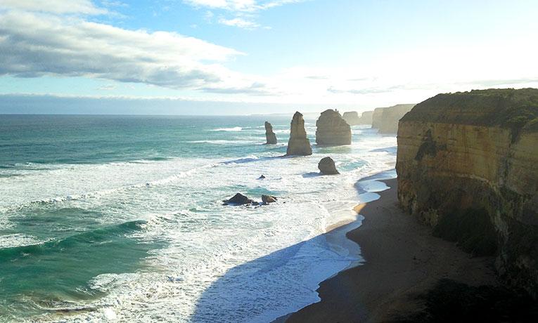 The Twelve Apostles on the Great Ocean Road in Victoria, Australia