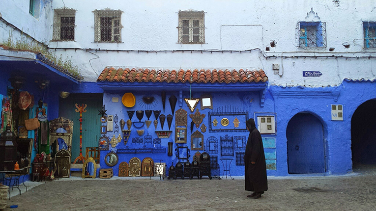 A street shop in Chefchaouen, Morocco