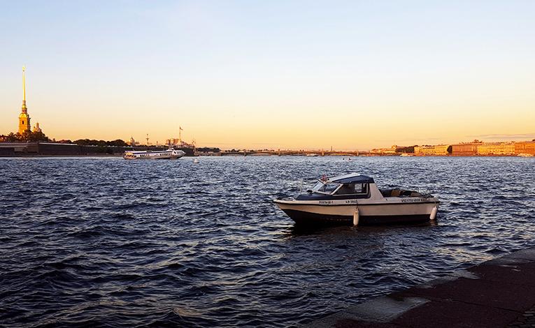 Neva River in St. Petersburg, Russia