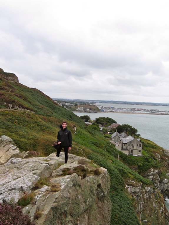 Study abroad student Hiking in Howth, Ireland