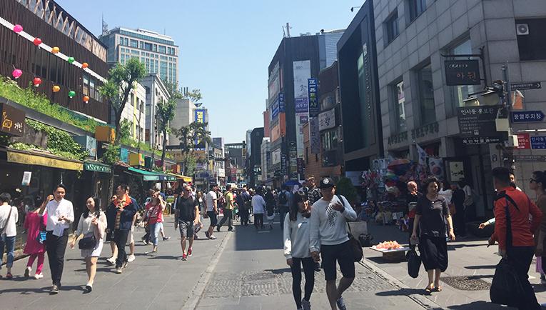 Shops in Insadong Seoul, South Korea