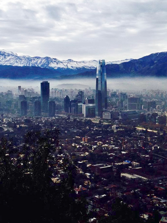 View of Santiago from the top of Cerro San Cristobal