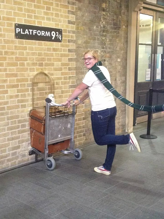 9 ¾ in Kings Cross Station in England