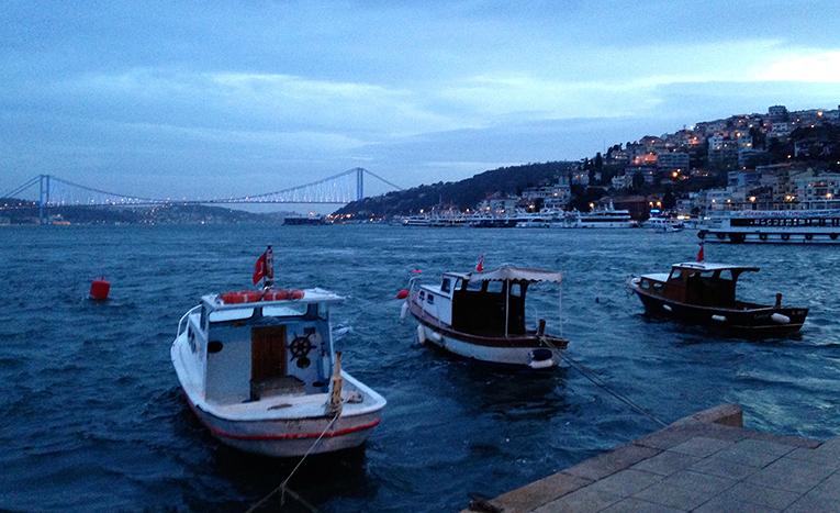 Seaside quay in Arnavutköy, Turkey